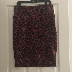 Lularoe Cassie Floral Pencil Skirt Sz L (14-16)